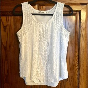 Tops - Lacy cream tank blouse